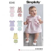 Simplicity Baby Easy Sewing Pattern 8346 Dresses & Panties