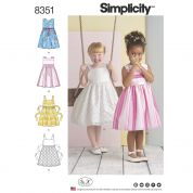 Simplicity Girls Sewing Pattern 8351 Special Occasion Dresses