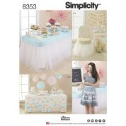 Simplicity Home Easy Sewing Pattern 8353 Party Decor & Accessories
