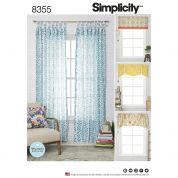 Simplicity Home Sewing Pattern 8355 Window Treatments