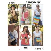 Simplicity Accessories Easy Sewing Pattern 8356 Festival Bags