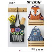 Simplicity Accessories Sewing Pattern 8357 Rag Quilted Bags