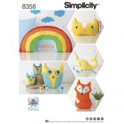 Simplicity Crafts Easy Sewing Pattern 8358 Stuffed Animal Toys