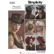 Simplicity Ladies Sewing Pattern 8361 Costume Hats