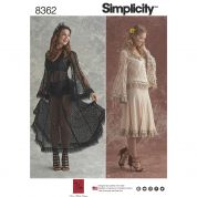 Simplicity Ladies Sewing Pattern 8362 Lace Blouse & Skirt Costume