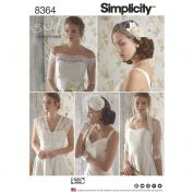 Simplicity Accessories Sewing Pattern 8364 Bridal Cover Ups, Fascinator & Hat