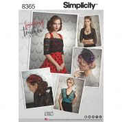 Simplicity Accessories Sewing Pattern 8365 Cover Ups, Fascinator & Hat