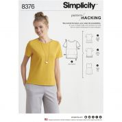 Simplicity Ladies Easy Pattern Hacking Sewing Pattern 8376 Knit Tops