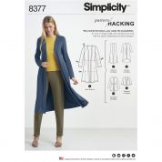 Simplicity Ladies Easy Pattern Hacking Sewing Pattern 8377 Knit Cardigans