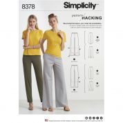 Simplicity Ladies Easy Pattern Hacking Sewing Pattern 8378 Knit Pants