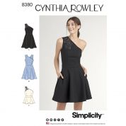 Simplicity Ladies Easy Sewing Pattern 8380 One Shoulder Knit Dress & Top