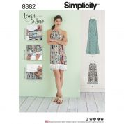 Simplicity Ladies Easy Learn to Sew Sewing Pattern 8382 Halter Dresses