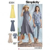 Simplicity Ladies Sewing Pattern 8384 Shirt Top & Shirt Dresses