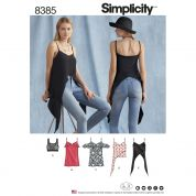 Simplicity Ladies Easy Sewing Pattern 8385 Tops & Knit Bralette