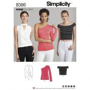 Simplicity Ladies Easy Sewing Pattern 8386 Knit Tops