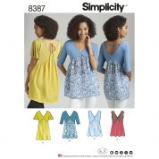 Simplicity Ladies Sewing Pattern 8387 Knit & Woven Tops