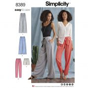 Simplicity Ladies Easy Sewing Pattern 8389 Pants, Shorts & Tie Belt