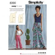 Simplicity Ladies & Girls Easy Sewing Pattern 8390 Tie Front Pants