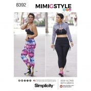 Simplicity Ladies Sewing Pattern 8392 Sports Bra, Leggings & Hoodie
