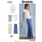 Simplicity Ladies Sewing Pattern 8393 Pants, Tunic, Top & Cardigan
