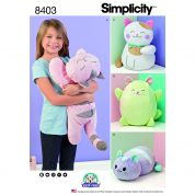 Simplicity Crafts Easy Sewing Pattern 8403 Stuffed Kitty Cat Toys