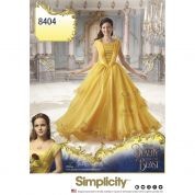 Simplicity Ladies Sewing Pattern 8404 Disney Beauty & the Beast Dress