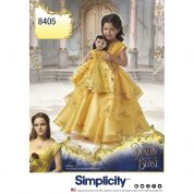 Simplicity Girls & Dolls Sewing Pattern 8405 Disney Beauty & the Beast Dress