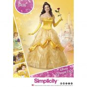 Simplicity Ladies Sewing Pattern 8406 Disney Belle Beauty & the Beast Dress