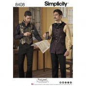 Simplicity Mens Sewing Pattern 8408 Shirt & Vest Costume