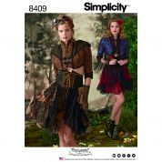Simplicity Ladies Sewing Pattern 8409 Steampunk Bolero & Corset Skirt Costume