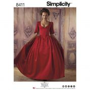Simplicity Ladies Sewing Pattern 8411 18th Century Costume Dress