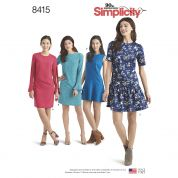 Simplicity Ladies Sewing Pattern 8415 Dresses with Length & Sleeve Variations