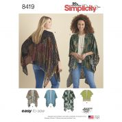 Simplicity Ladies Easy Sewing Pattern 8419 Kimono Style Wraps