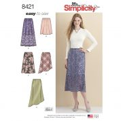 Simplicity Ladies Easy Sewing Pattern 8421 Skirts with Hem Variations