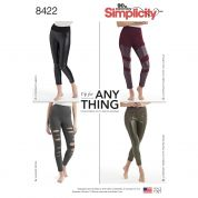 Simplicity Ladies Easy Sewing Pattern 8422 Knit Leggings