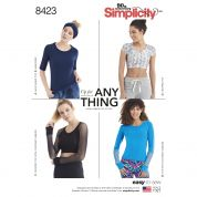 Simplicity Ladies Easy Sewing Pattern 8423 Knit Tops