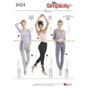 Simplicity Ladies Sewing Pattern 8424 Knit Leggings & Tops