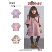 Simplicity Girls Easy Sewing Pattern 8428 Poncho in Two Lengths