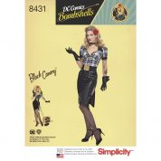 Simplicity Ladies Sewing Pattern 8431 Bombshells Black Canary Costume
