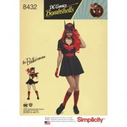 Simplicity Ladies Sewing Pattern 8432 Bombshells Batwoman Costume
