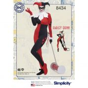 Simplicity Ladies Sewing Pattern 8434 Harley Quinn Costume