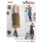 Simplicity Ladies Sewing Pattern 8438 Pinafore Dress & Petticoat