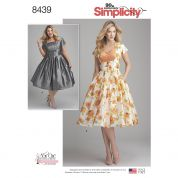 Simplicity Ladies Plus Size Sewing Pattern 8439 Vintage Style Dresses