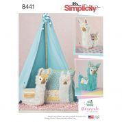 Simplicity Craft Easy Pattern 8441 Stuffed Animals & Cushion