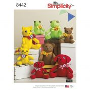 Simplicity Craft Easy Sewing Pattern 8442 Stuffed Animal Soft Toys