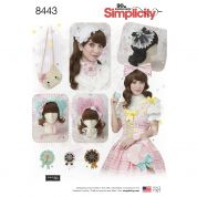 Simplicity Ladies Easy Sewing Pattern 8443 Hair Accessories, Purses & Medallions