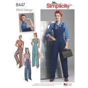 30ae50cfa93 Simplicity Ladies Sewing Pattern 8447 1940s Vintage Style Pants