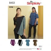 Simplicity Ladies Easy Sewing Pattern 8453 Knit Tops