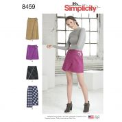 Simplicity Ladies Sewing Pattern 8459 Skirts with Wrap Variations