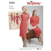Simplicity Ladies Sewing Pattern 8460 1950s Vintage Style Dress & Jacket